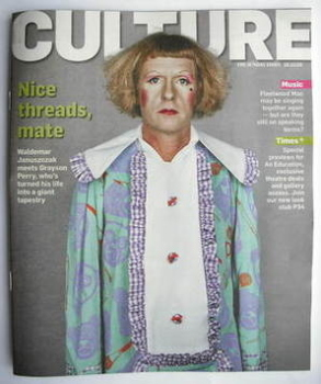 Culture magazine - Grayson Perry cover (18 October 2009)