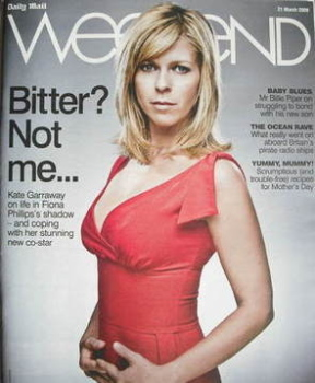 Weekend magazine - Kate Garraway cover (21 March 2009)