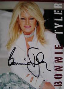 Bonnie Tyler autograph