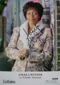 Angela Wynter autograph (ex EastEnders actor)