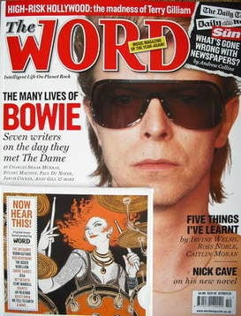 <!--2009-10-->The Word magazine - David Bowie cover (October 2009)