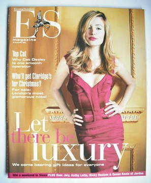 <!--2003-11-28-->Evening Standard magazine - Cat Deeley cover (28 November