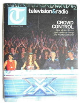 Television&Radio magazine - Dannii Minogue, Cheryl Cole, Louis Walsh, Simon Cowell cover (22 August 2009)