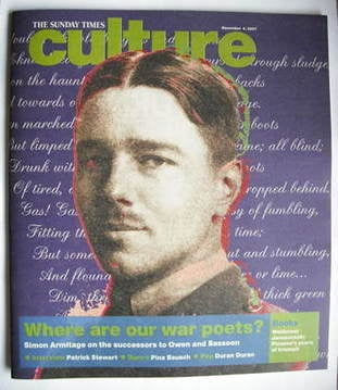 <!--2007-11-04-->Culture magazine - Where Are Our War Poets? cover (4 Novem