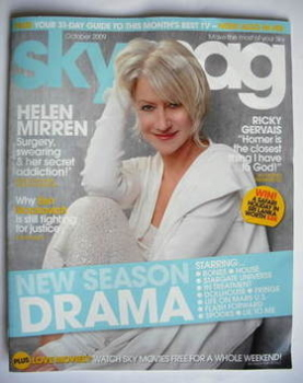 Sky TV magazine - October 2009 - Helen Mirren cover