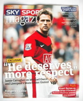 Sky Sports magazine - October 2009 - Michael Owen cover