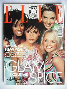 <!--2000-01-->British Elle magazine - January 2000 - The Spice Girls cover