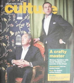 Culture magazine - Michael Gambon and David Walliams cover (28 October 2007)
