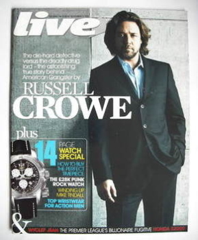 Live magazine - Russell Crowe cover (4 November 2007)
