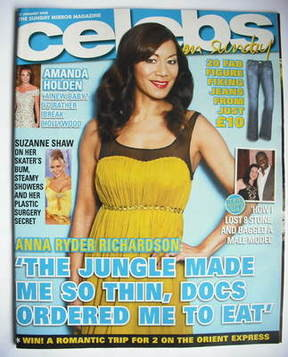 <!--2008-01-27-->Celebs magazine - Anna Ryder Richardson cover (27 January