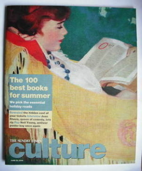 Culture magazine - The 100 Best Books For Summer cover (29 June 2008)