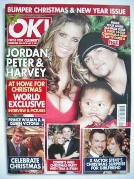 <!--2005-01-04-->OK! magazine - Jordan Katie Price and Peter Andre and Harv