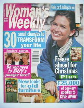 <!--1997-11-18-->Woman's Weekly magazine (18 November 1997)