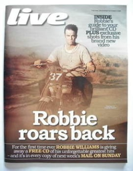 Live magazine - Robbie Williams cover (4 October 2009)