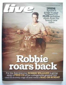 <!--2009-10-04-->Live magazine - Robbie Williams cover (4 October 2009)