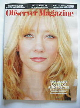 <!--2009-10-04-->The Observer magazine - Anne Heche cover (4 October 2009)