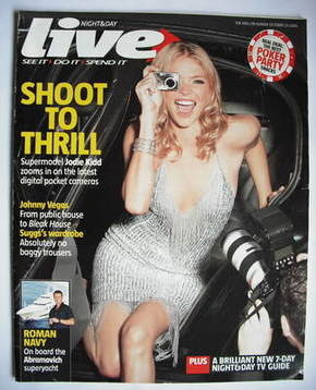 <!--2005-10-23-->Live magazine - Jodie Kidd cover (23 October 2005)