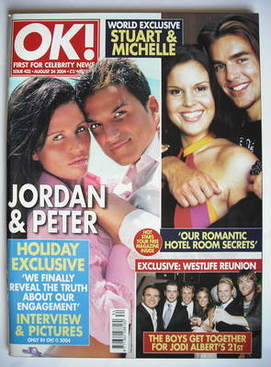 <!--2004-08-24-->OK! magazine - Jordan Katie Price and Peter Andre cover (2