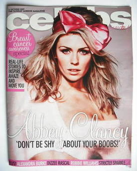 <!--2009-10-11-->Celebs magazine - Abbey Clancy cover (11 October 2009)