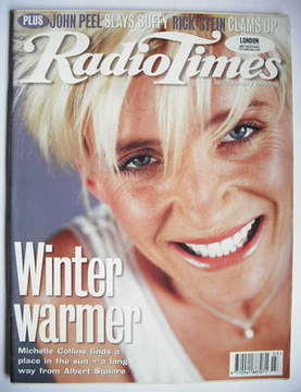 <!--1999-01-16-->Radio Times magazine - Michelle Collins cover (16-22 Janua