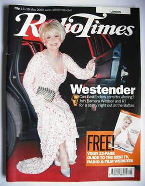 <!--2000-05-13-->Radio Times magazine - Barbara Windsor cover (13-19 May 20