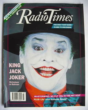 <!--1989-06-10-->Radio Times magazine - Jack Nicholson cover (10-16 June 19