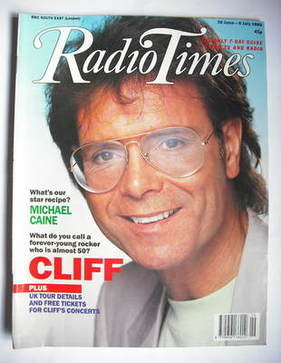 <!--1990-06-30-->Radio Times magazine - Cliff Richard cover (30 June - 6 Ju