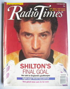 <!--1990-06-09-->Radio Times magazine - Peter Shilton cover (9-15 June 1990