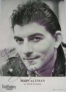 John Altman signed photo (ex EastEnders actor)
