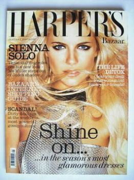 Harper's Bazaar magazine - January 2007 - Sienna Miller cover