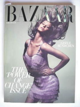 Harper's Bazaar magazine - October 2007 - Gisele Bundchen cover