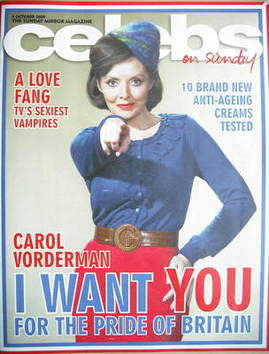 <!--2009-10-04-->Celebs magazine - Carol Vorderman cover (4 October 2009)