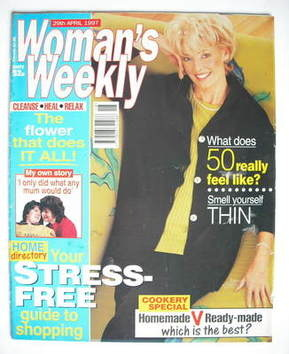 <!--1997-04-29-->Woman's Weekly magazine (29 April 1997 - Diana Moran cover
