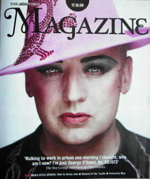The Times magazine - Boy George cover (17 October 2009)