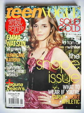 <!--2005-11-->Teen Vogue magazine - November 2005 - Emma Watson cover
