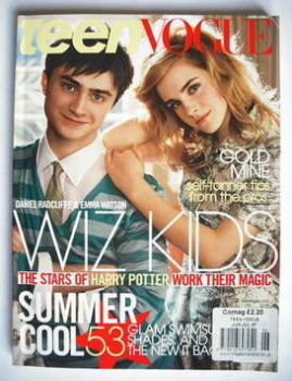 Teen Vogue magazine - June/July 2007 - Emma Watson and Daniel Radcliffe cover