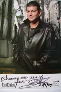 John Altman signed photograph (ex EastEnders actor)