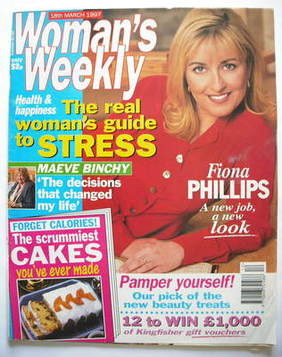 <!--1997-03-18-->Woman's Weekly magazine (18 March 1997 - Fiona Phillips co