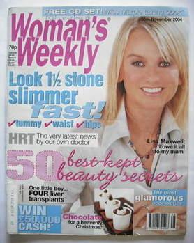 <!--2004-11-30-->Woman's Weekly magazine (30 November 2004 - Lisa Maxwell c