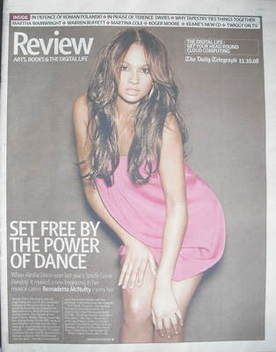 The Daily Telegraph Review newspaper supplement - 11 October 2008 - Alesha