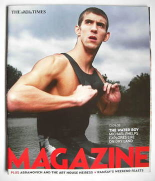 <!--2008-09-13-->The Times magazine - Michael Phelps cover (13 September 20