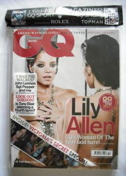 British GQ magazine - October 2009 - Lily Allen cover