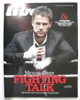 Live magazine - Michael Owen cover (18 October 2009)
