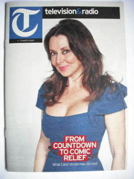 Television&Radio magazine - Carol Vorderman cover (7 March 2009)