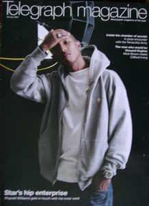 <!--2007-07-28-->Telegraph magazine - Pharrell Williams cover (28 July 2007