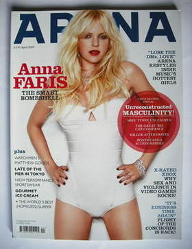 <!--2009-04-->Arena magazine - April 2009 - Anna Faris cover