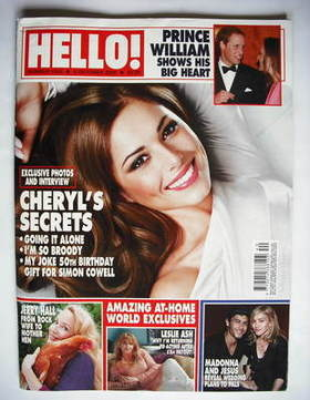 <!--2009-10-05-->Hello! magazine - Cheryl Cole cover (5 October 2009 - Issu