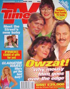 <!--1995-01-07-->TV Times magazine - Josie Lawrence, Robert Daws, Brenda Bl