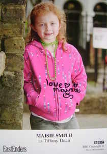 Maisie Smith autograph (EastEnders actor)
