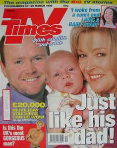 <!--1996-03-23-->TV Times magazine - Steve McFadden and Gillian Taylforth c